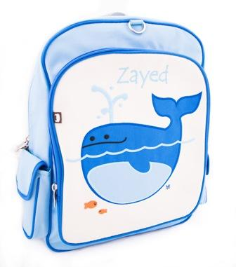 BEATRIX NY's Big kids Backpack Lucas the Whale